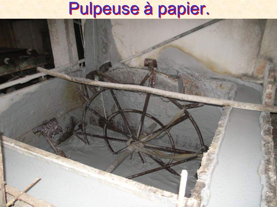 Pulpeuse à papier.
