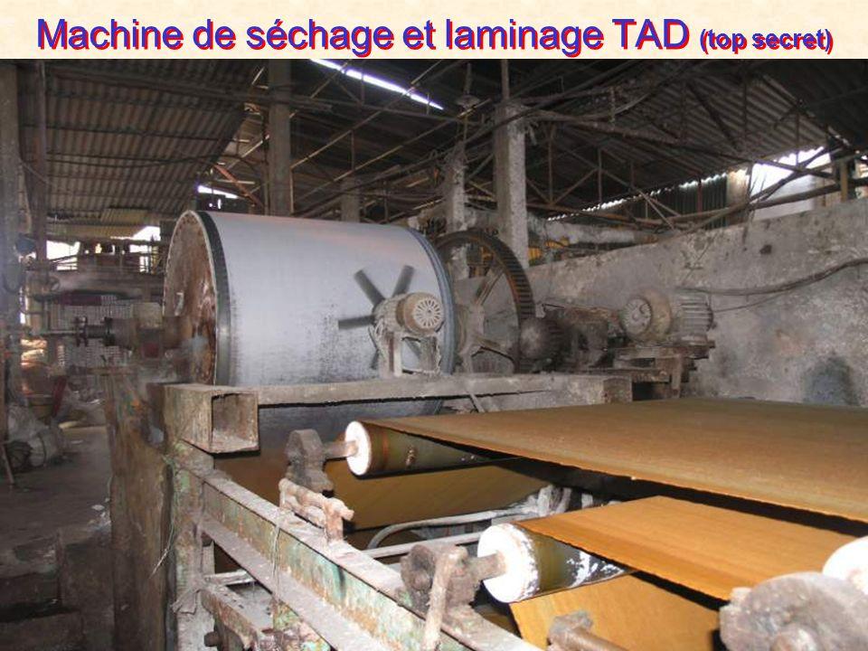 Machine de séchage et laminage TAD (top secret)