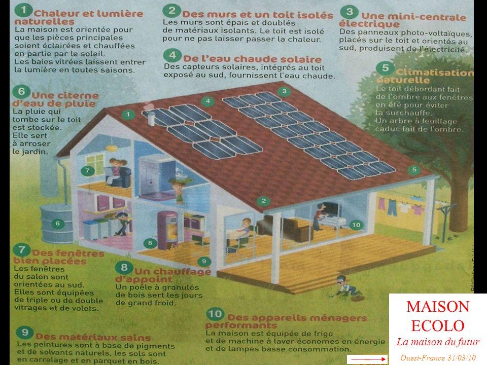 MAISON ECOLO La maison du futur Ouest-France 31/03/10 mm