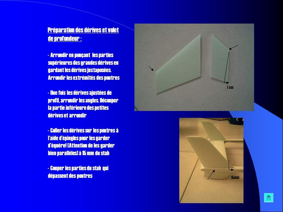 - Coller et inserer laile centrale (attention de mettre le fuselage bien au centre de laile). - Coller les servos sur les poutres - Coller les deux po