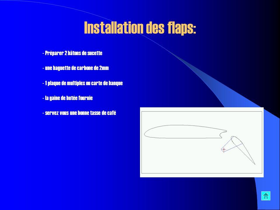 - Coller la partie avant sur le troisième tronçon du fuselage, poncer les angles entre ces deux parties - Pour ceux qui nutilisent pas de flaps, il vo