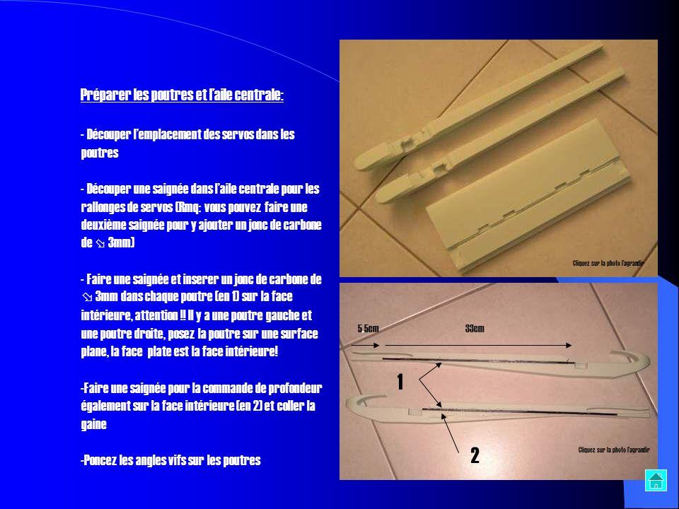 - Coller les deux parties du tronçon moteur et Coller les deux demi-coques du troisième tronçon - Faire correspondre cette pièce au troisième tronçon