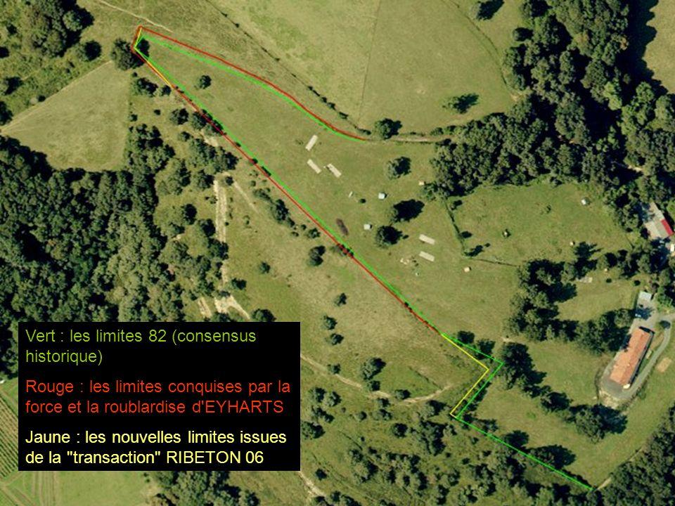 Vert : les limites 82 (consensus historique) Rouge : les limites conquises par la force et la roublardise d'EYHARTS Jaune : les nouvelles limites issu