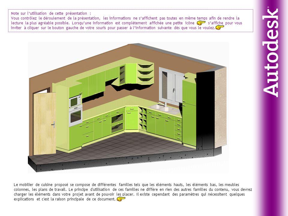 Le mobilier de cuisine proposé se compose de différentes familles tels que les éléments hauts, les éléments bas, les meubles colonnes, les plans de tr