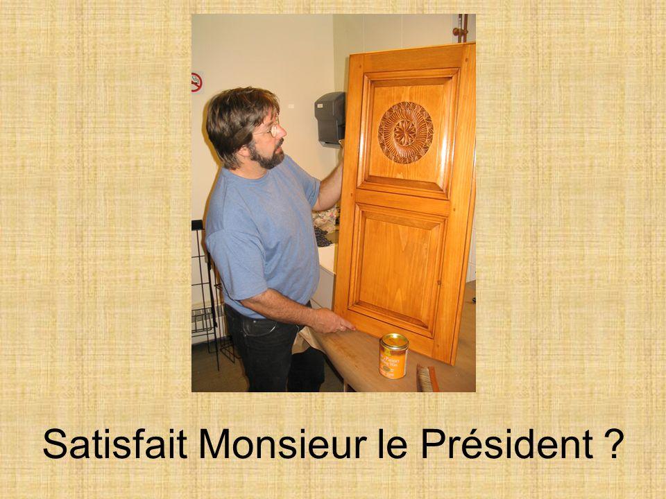 Satisfait Monsieur le Président ?