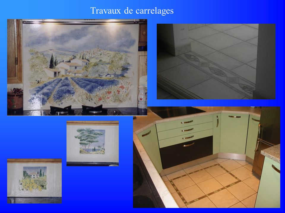 Travaux de carrelages