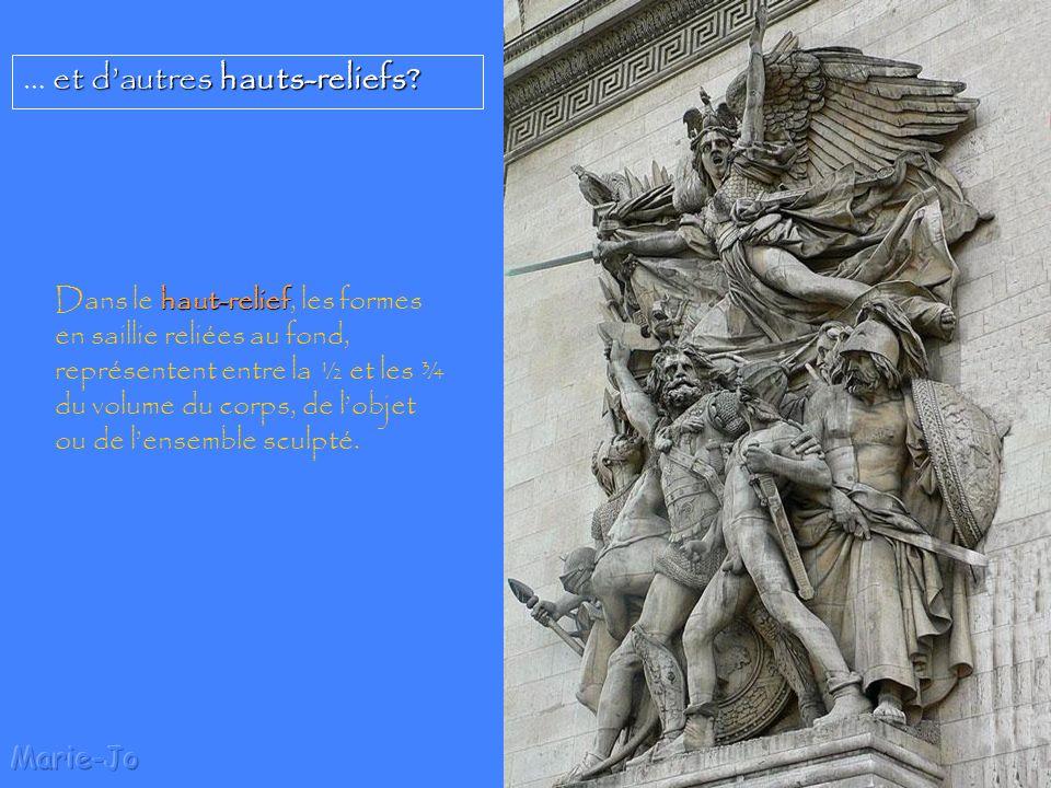 Marie-Jo Pourquoi des sculptures sont-elles appelées bas-reliefs? sculpture bas-relief Une sculpture est dite en bas-relief lorsque les différentes fo