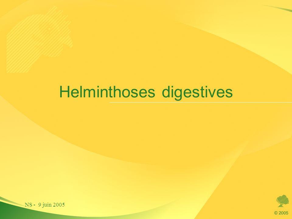 NS - 9 juin 2005 Helminthoses digestives