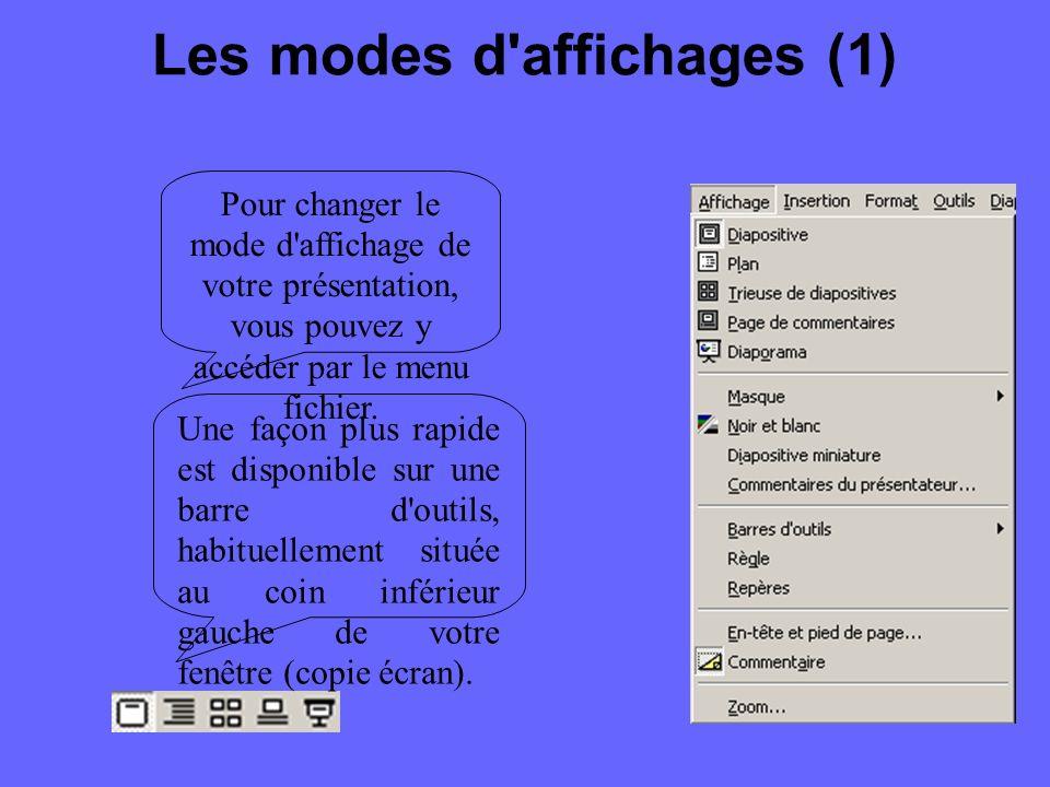 La barre d outils Dessin (2) Le texte : Le premier bouton permet d entrer une zone de texte dans une présentation.