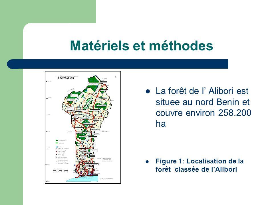 Matériels et méthodes La forêt de l Alibori est situee au nord Benin et couvre environ 258.200 ha Figure 1: Localisation de la forêt classée de lAlibori