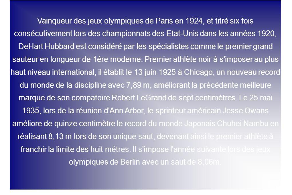 Vainqueur des jeux olympiques de Paris en 1924, et titré six fois consécutivement lors des championnats des Etat-Unis dans les années 1920, DeHart Hub