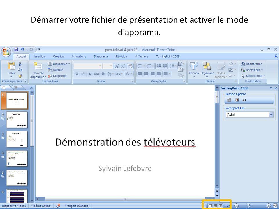 09-09-04 Démarrer votre fichier de présentation et activer le mode diaporama.