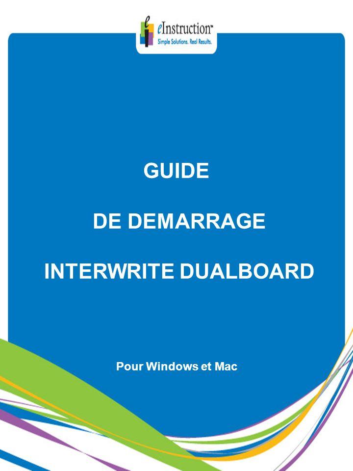 GUIDE DE DEMARRAGE INTERWRITE DUALBOARD Pour Windows et Mac