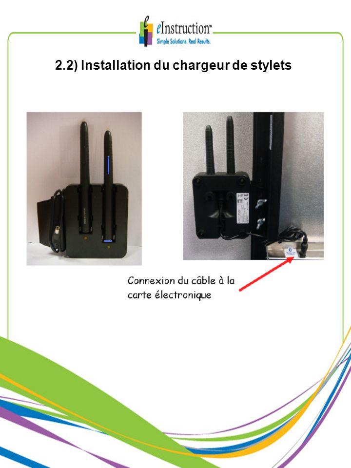 2.2) Installation du chargeur de stylets