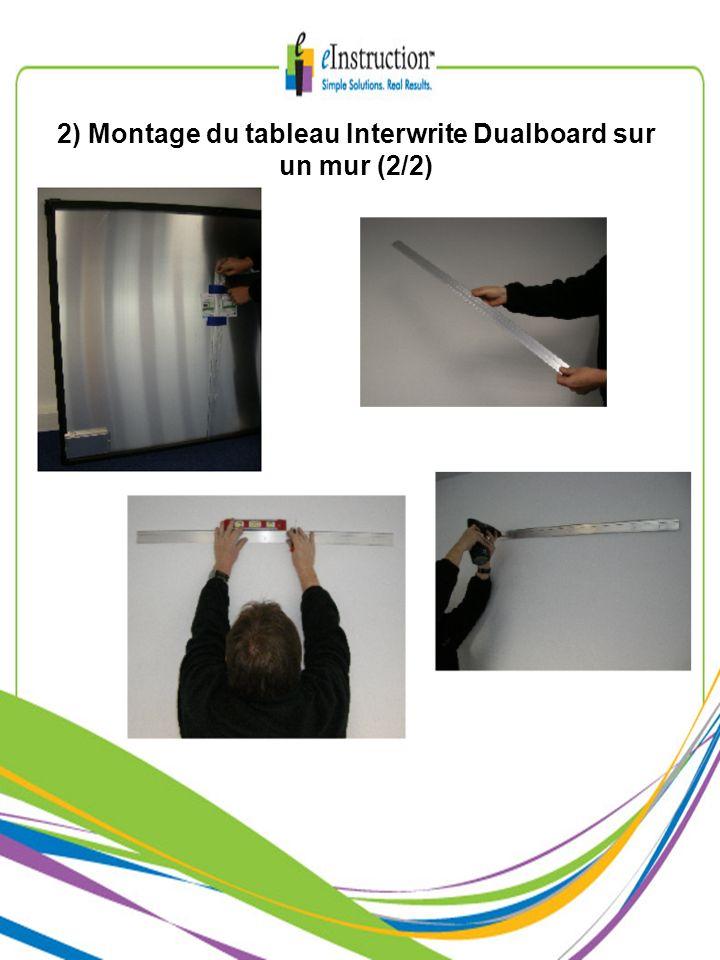 10) Connexions à la carte électronique du tableau Interwrite Dualboard (1/2)