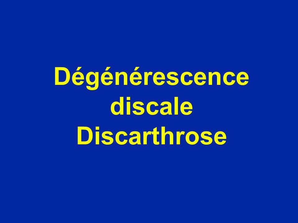 Dégénérescence du disque (perte de sa teneur en eau) Disque jeune Disque de 75 ans