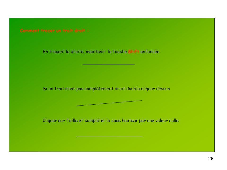 27 Dessiner un autre trait oblique pour représenter linterrupteur Sélectionner et grouper le rectangle et le trait oblique Linterrupteur peut se dépla