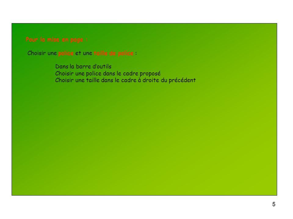 4 Pour la mise en page : Numéroter les diapositives : Insertion Numéro de diapositive