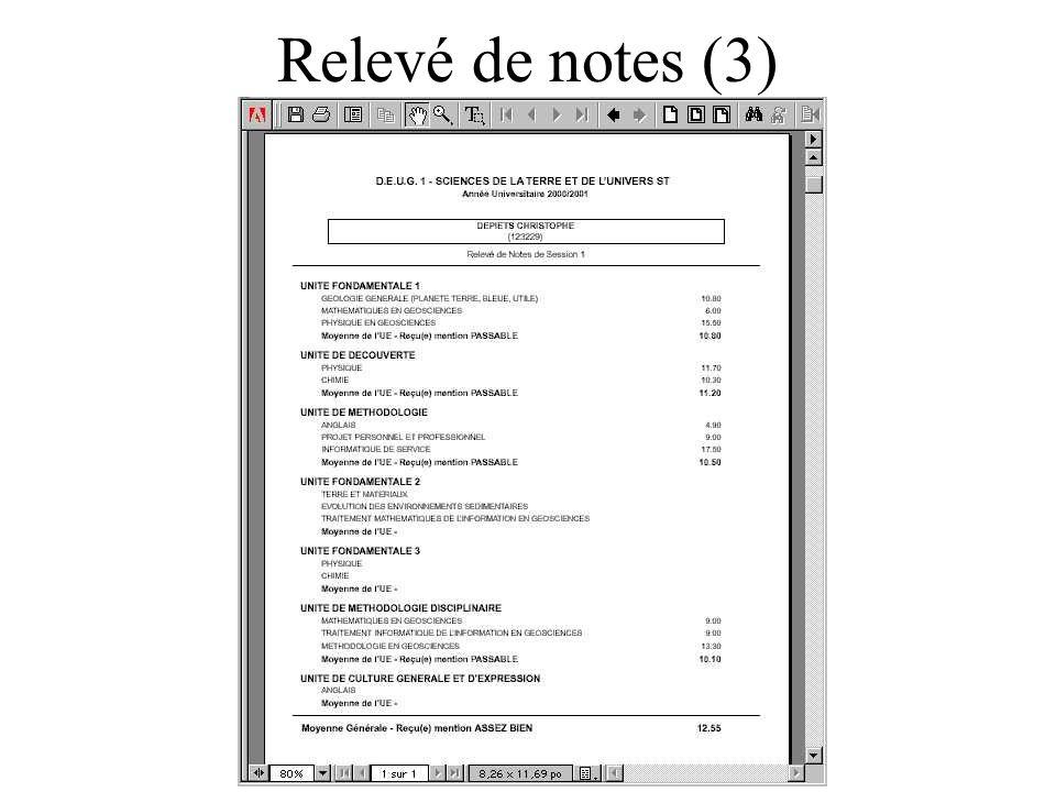 Relevé de notes (3)