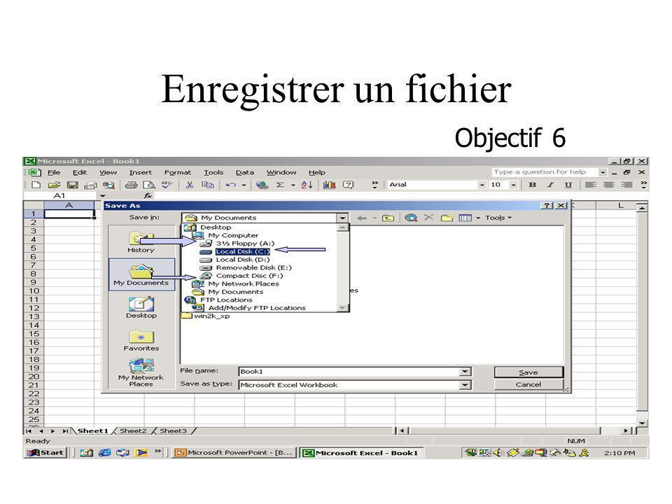 Enregistrer un fichier Objectif 6