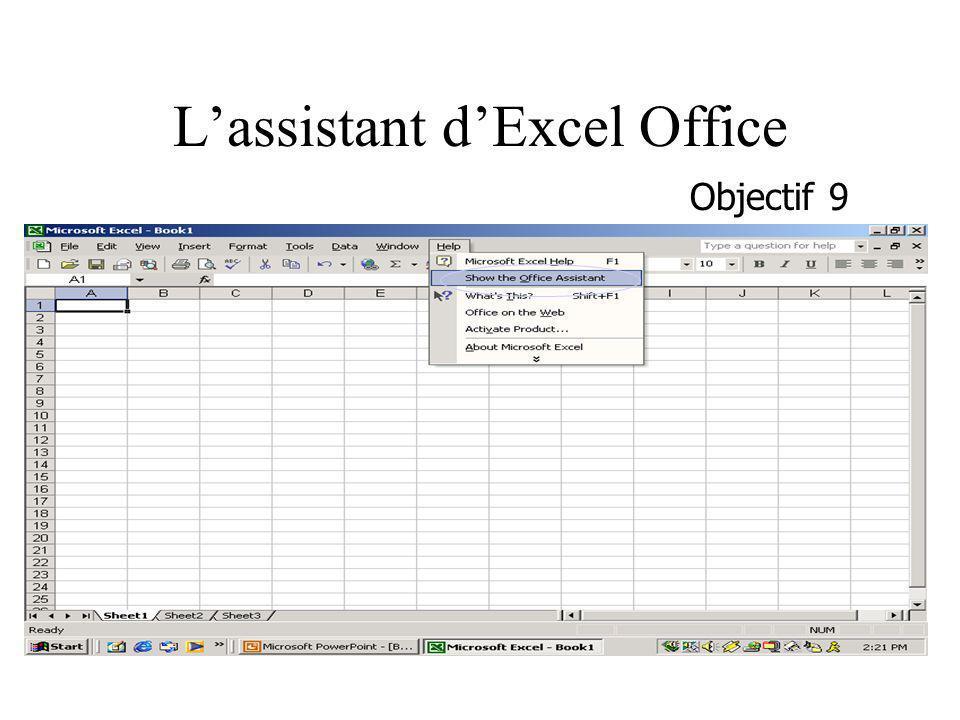 Lassistant dExcel Office Objectif 9
