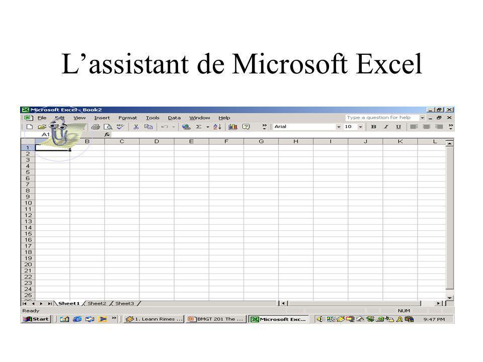 Lassistant de Microsoft Excel