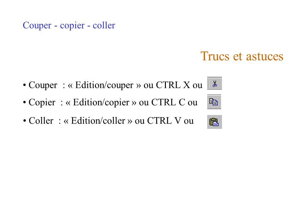 Fichier 1 Fichier 2Presse-papier COUPER COLLER Fichier 1 Fichier 2Presse-papier COPIER COLLER