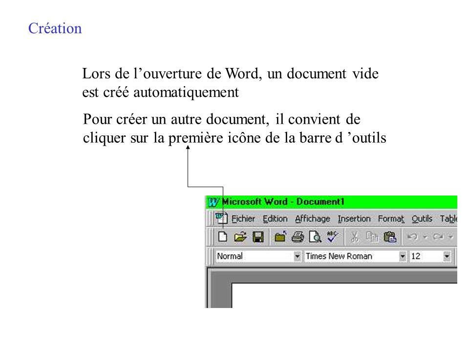 Création dun document