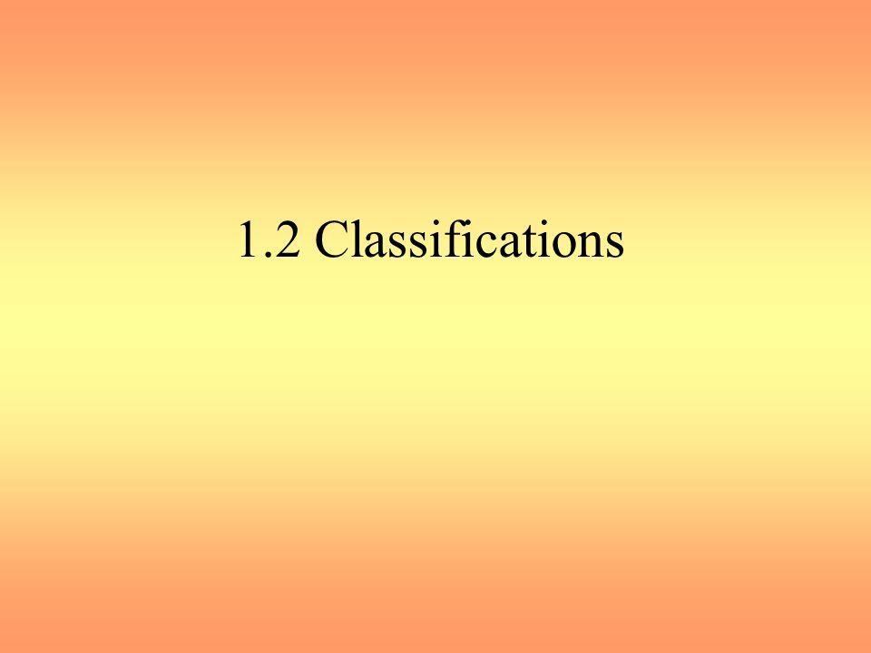 1.2 Classifications