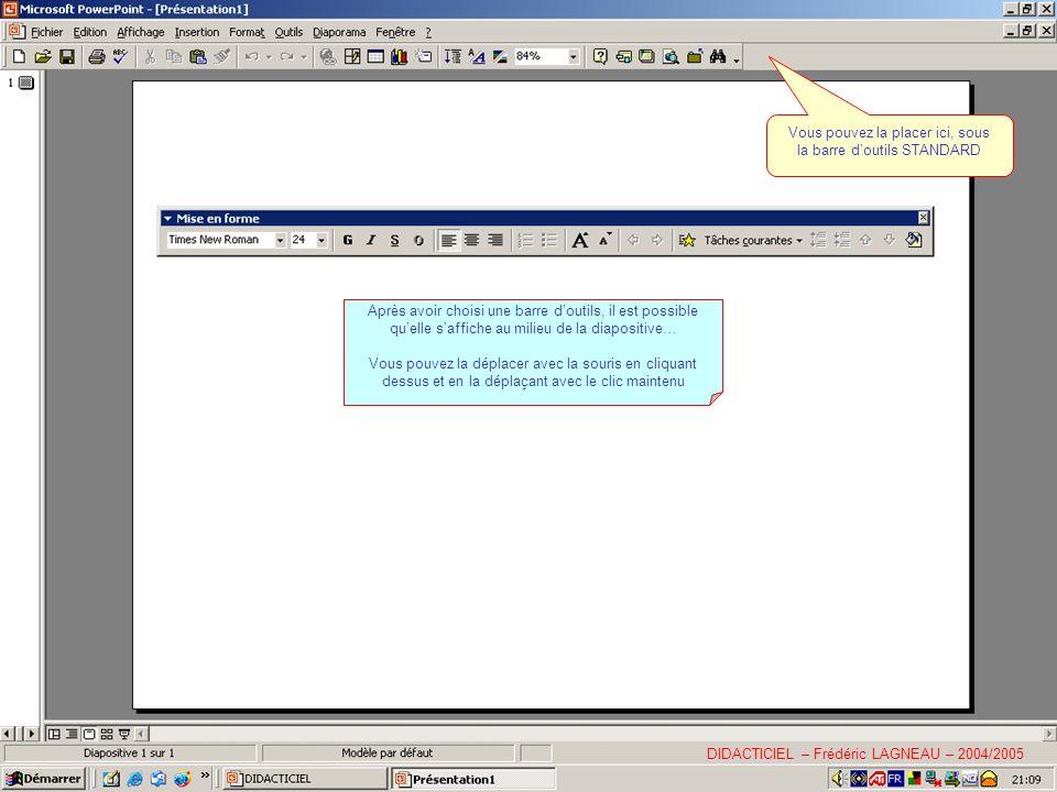 De la même façon, choisissez une texture DIDACTICIEL – Frédéric LAGNEAU – 2004/2005