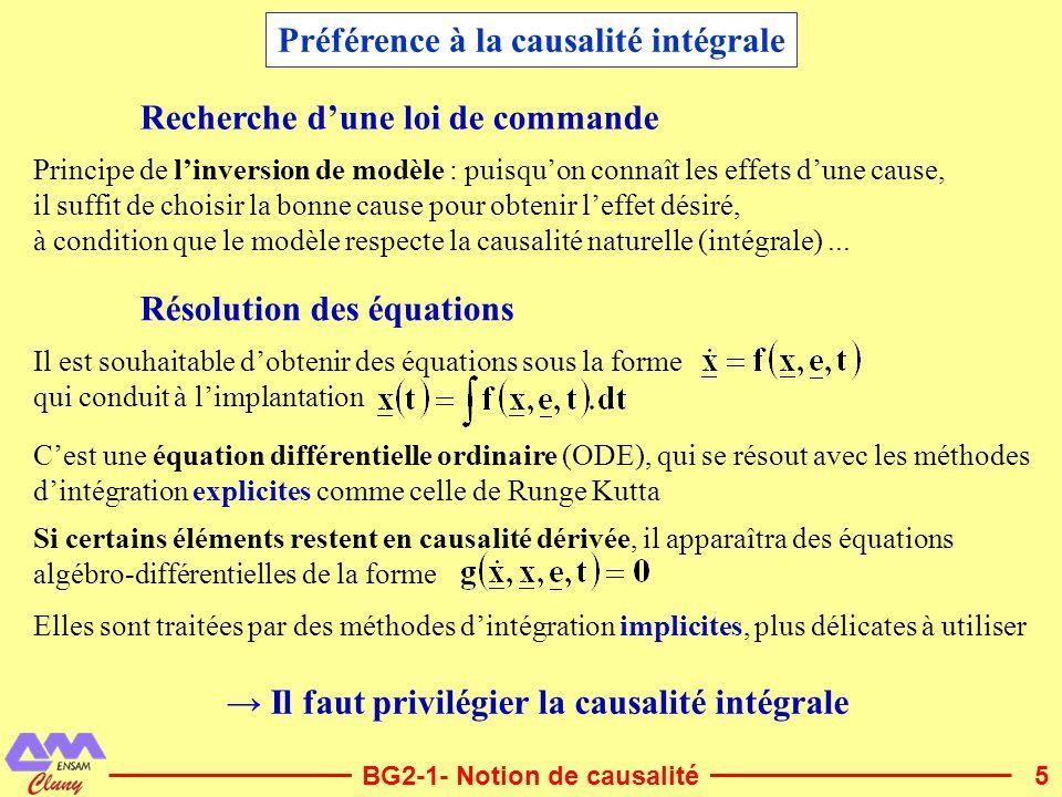 6BG2-2- Affectation de la causalité Causalité des sources et de léléments R Se Sf Source deffort Source de flux e imposé par Se f imposé par Sf Causalité imposée Causalité indifférente e = R.f Elément R f = e/RR R Cas particulier : frottement sec Causalité flux Pour F donné, on ne connaît pas forcément v R F v