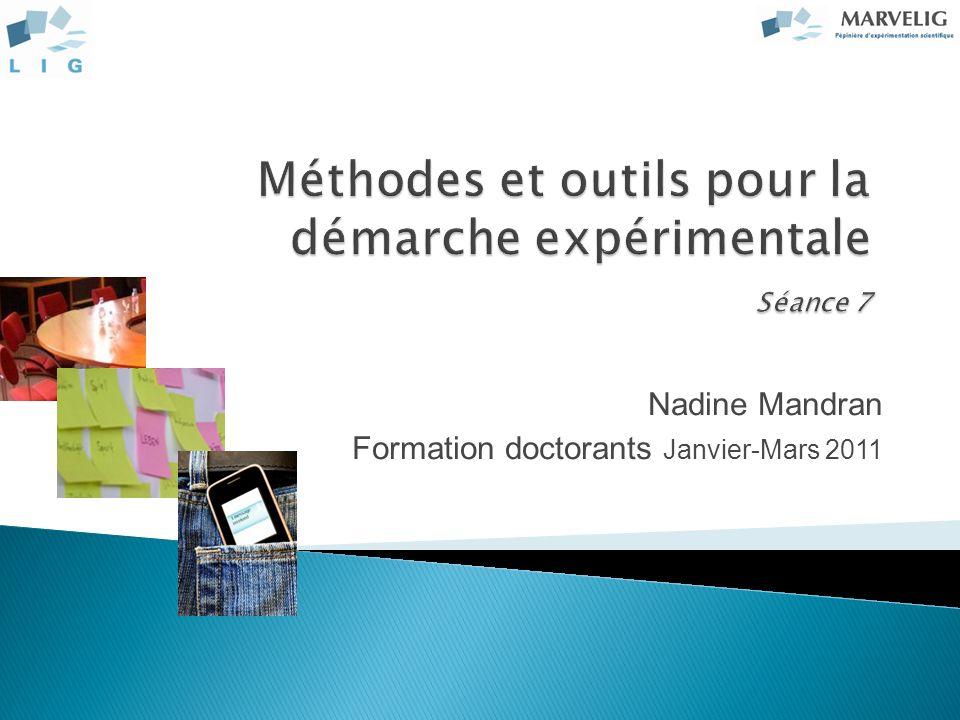 Nadine Mandran Formation doctorants Janvier-Mars 2011