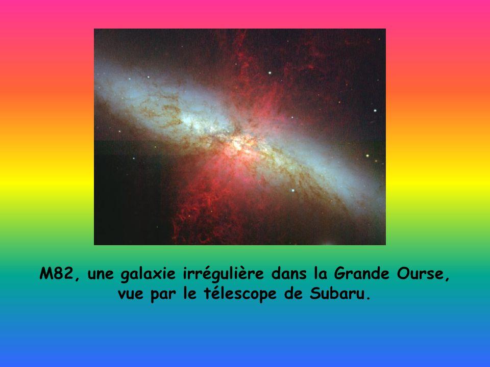 M82, une galaxie irrégulière dans la Grande Ourse, vue par le télescope de Subaru.