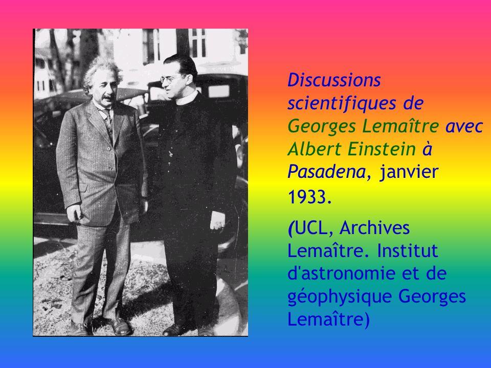 Discussions scientifiques de Georges Lemaître avec Albert Einstein à Pasadena, janvier 1933. (UCL, Archives Lemaître. Institut d'astronomie et de géop
