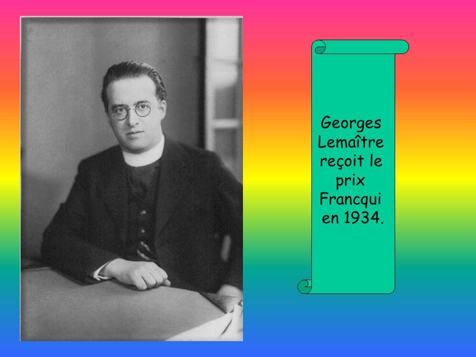 Georges Lemaître reçoit le prix Francqui en 1934.