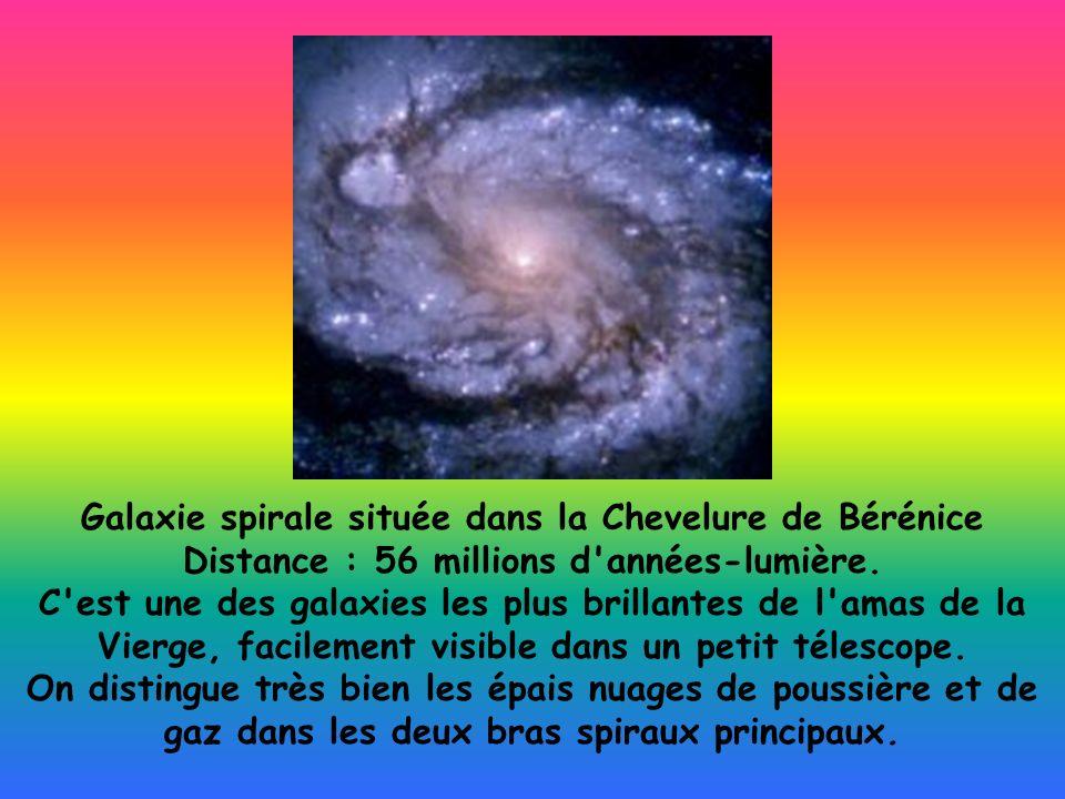 Galaxie spirale située dans la Chevelure de Bérénice Distance : 56 millions d'années-lumière. C'est une des galaxies les plus brillantes de l'amas de