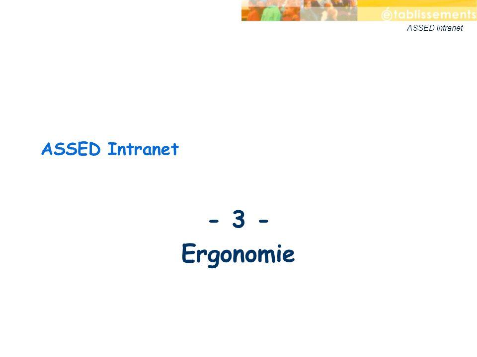 ASSED Intranet - 3 - Ergonomie ASSED Intranet