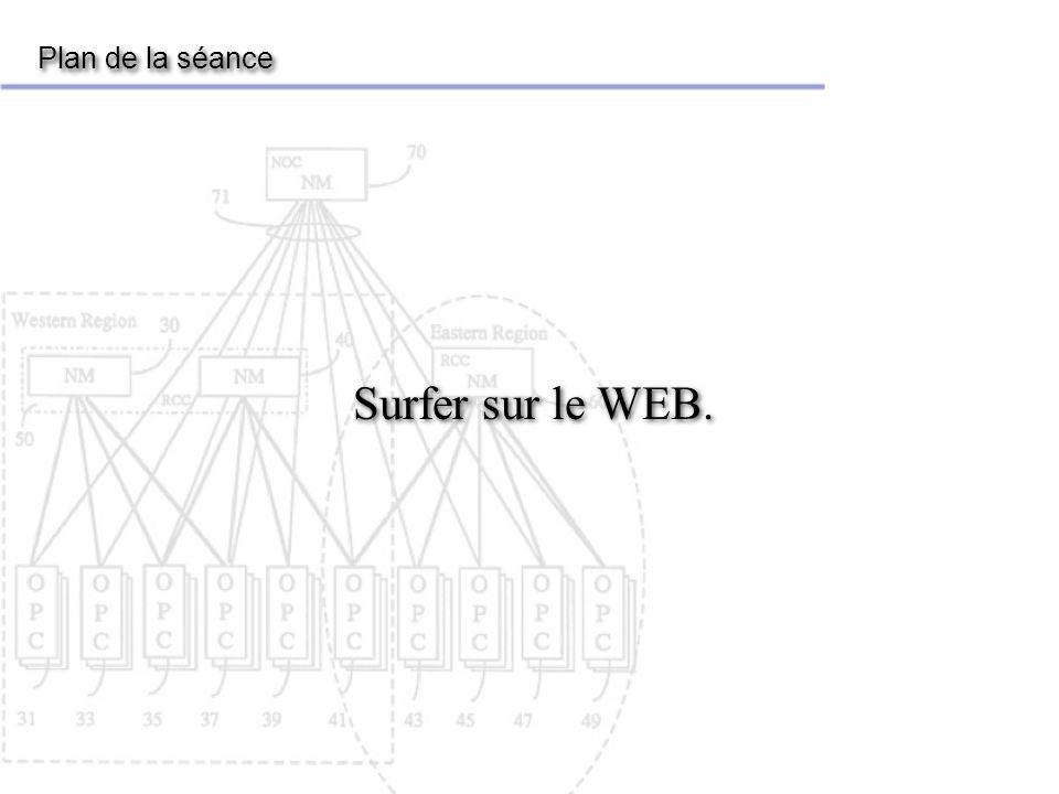 Surfer sur le WEB Le Web n est qu une des applications d Internet.