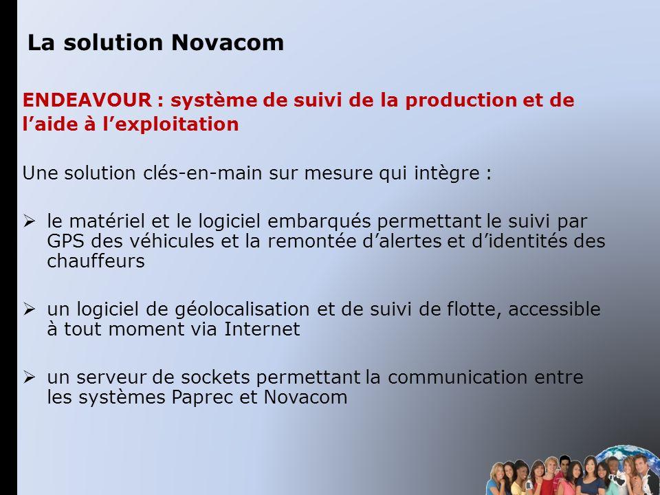 ENDEAVOUR : système de suivi de la production et de laide à lexploitation Une solution clés-en-main sur mesure qui intègre : le matériel et le logicie