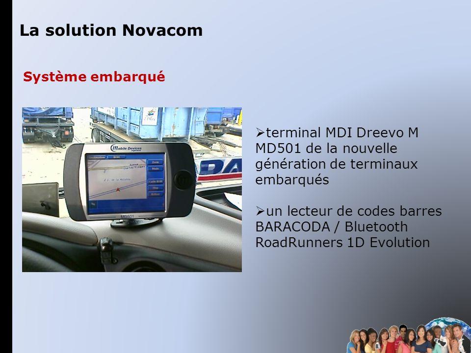 terminal MDI Dreevo M MD501 de la nouvelle génération de terminaux embarqués un lecteur de codes barres BARACODA / Bluetooth RoadRunners 1D Evolution