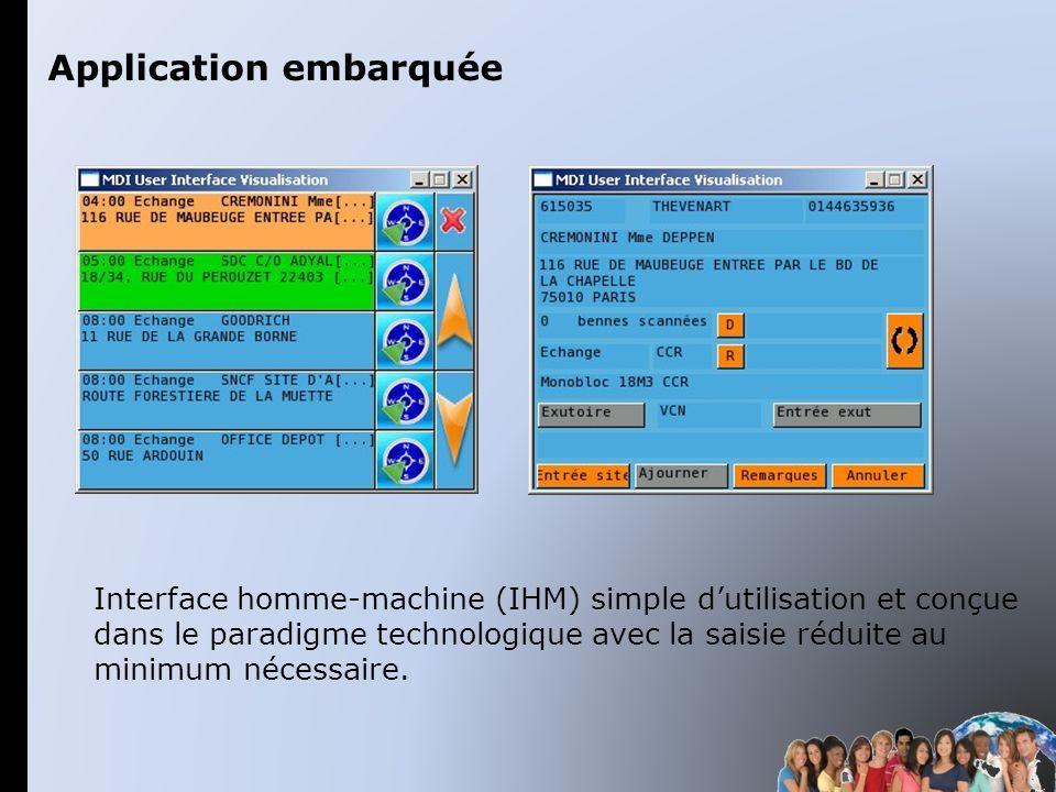 Interface homme-machine (IHM) simple dutilisation et conçue dans le paradigme technologique avec la saisie réduite au minimum nécessaire. Application