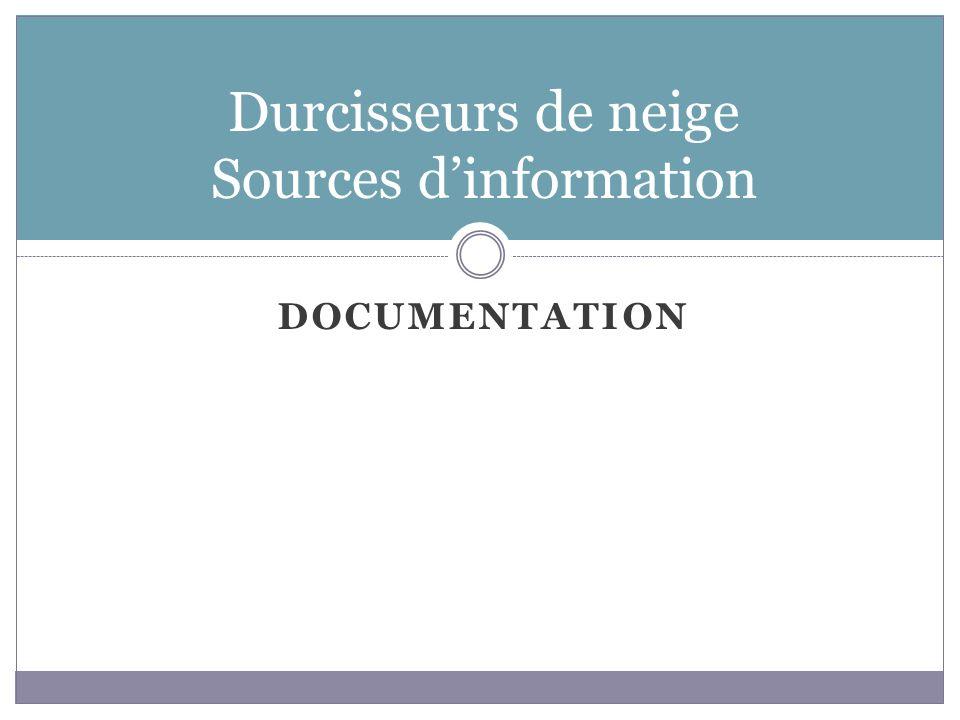 Sources dinformation Documentation