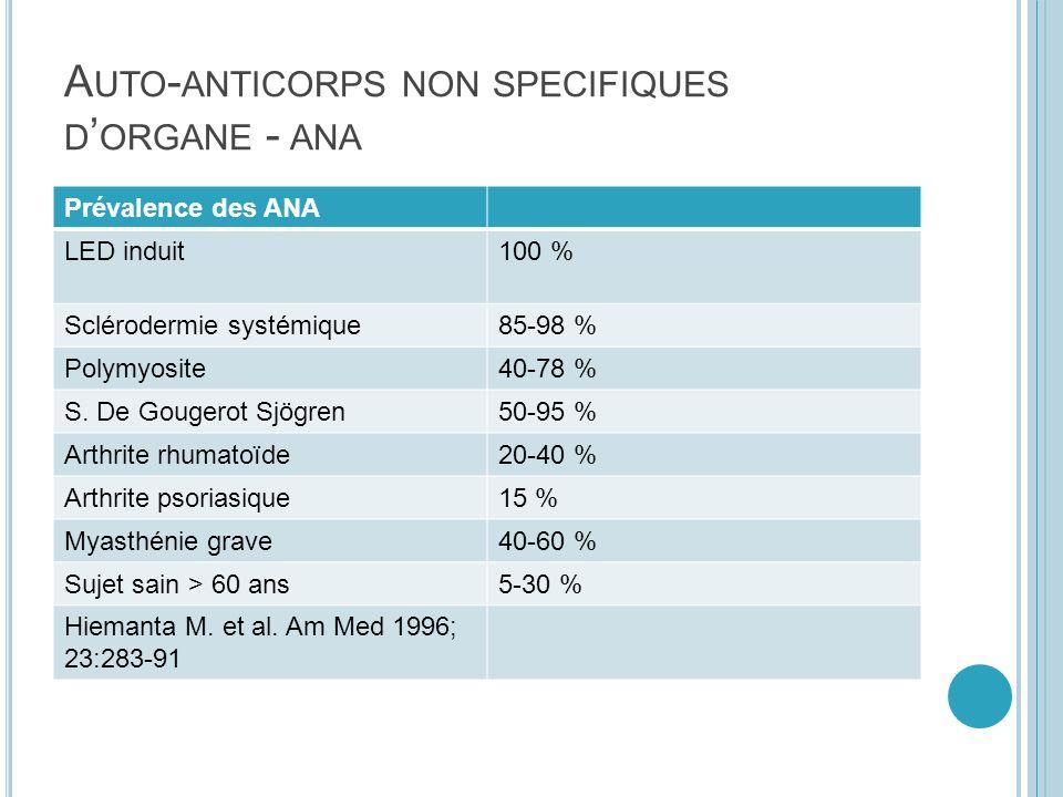 A NTICORPS ANTI - MITOCHONDRIES Retrouvés dans 95 % des Cirrhoses biliaires primitives CBP : femmes de 30 à 70 ans, prurit, asthénie et ictère.