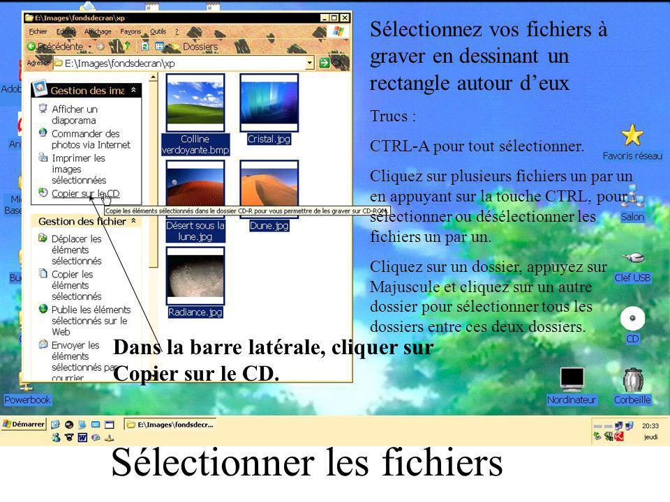 Si votre mari a désactivé la barre latérale de Windows XP, allez dans Démarrer / Panneau de configuration / Système / Avancé / Paramètres / Effets visuels : cocher « Utiliser les tâches courantes dans les dossiers ».