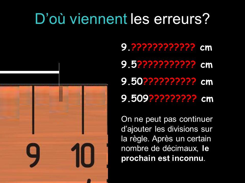 Doù viennent les erreurs. 9.???????????. cm 9.5??????????.