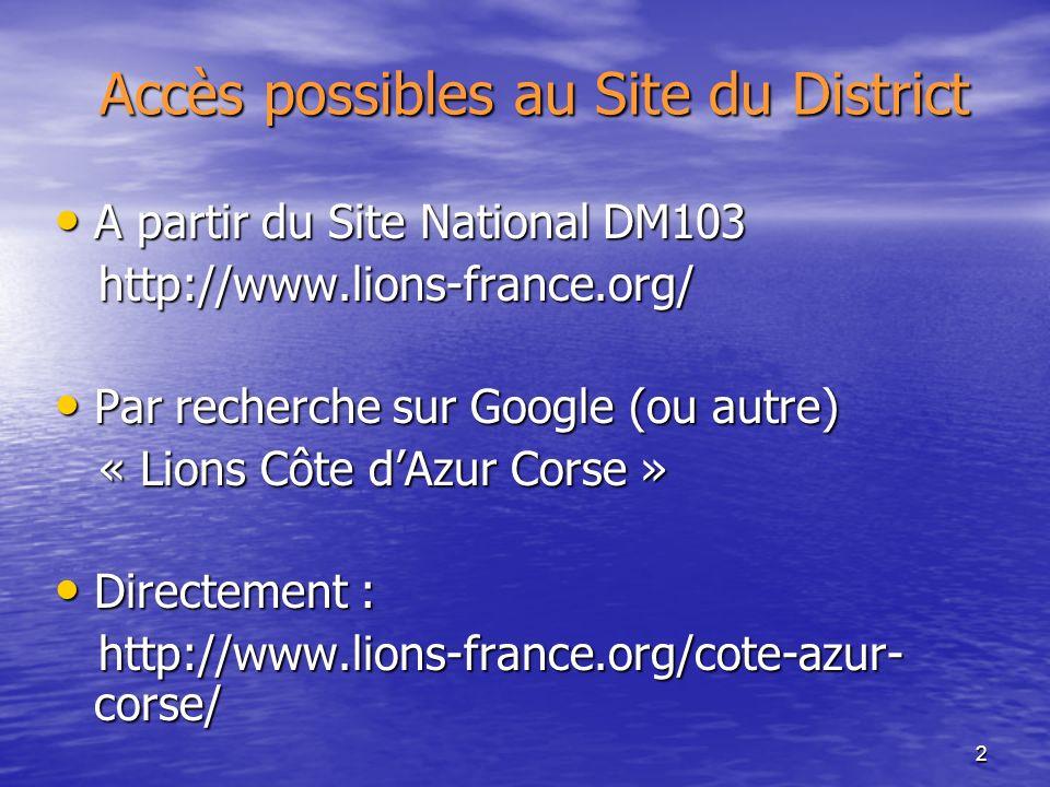 3 Recherche du district côte dazur corse SITE NATIONAL DM103 : PAGE DACCUEIL