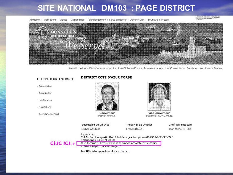 5 SITE DISTRICT CÔTE DAZUR CORSE : PAGE DACCUEIL