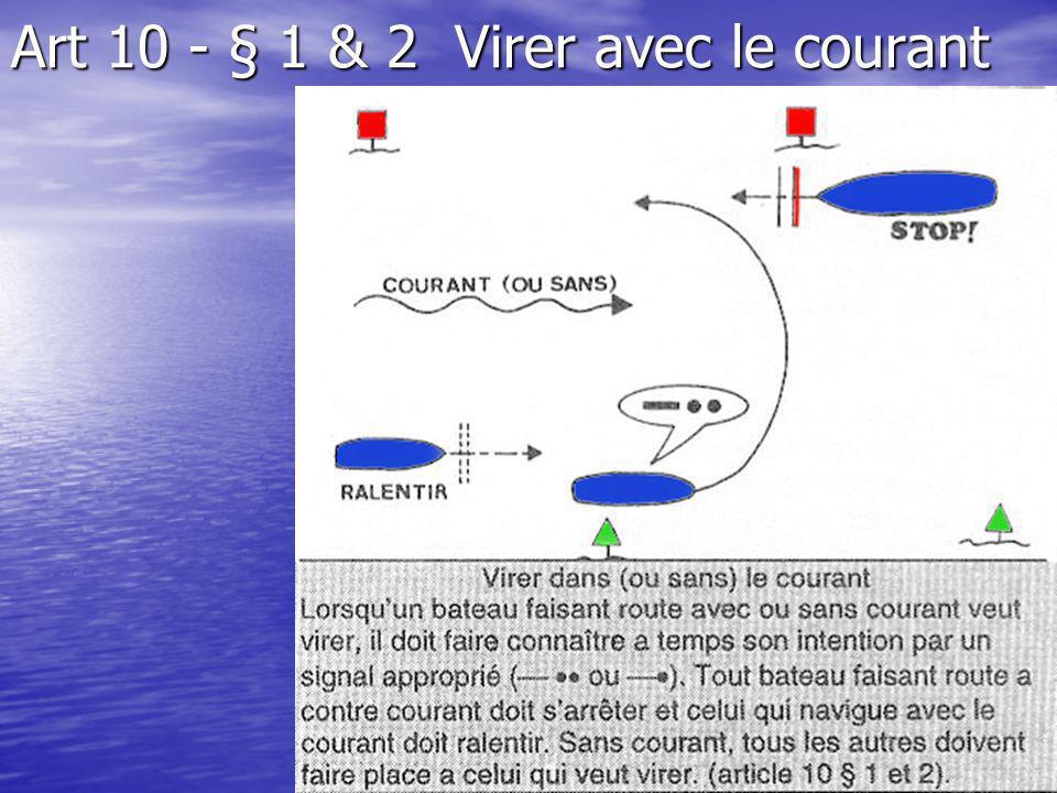 Art 10 - § 1 & 2 Virer avec le courant