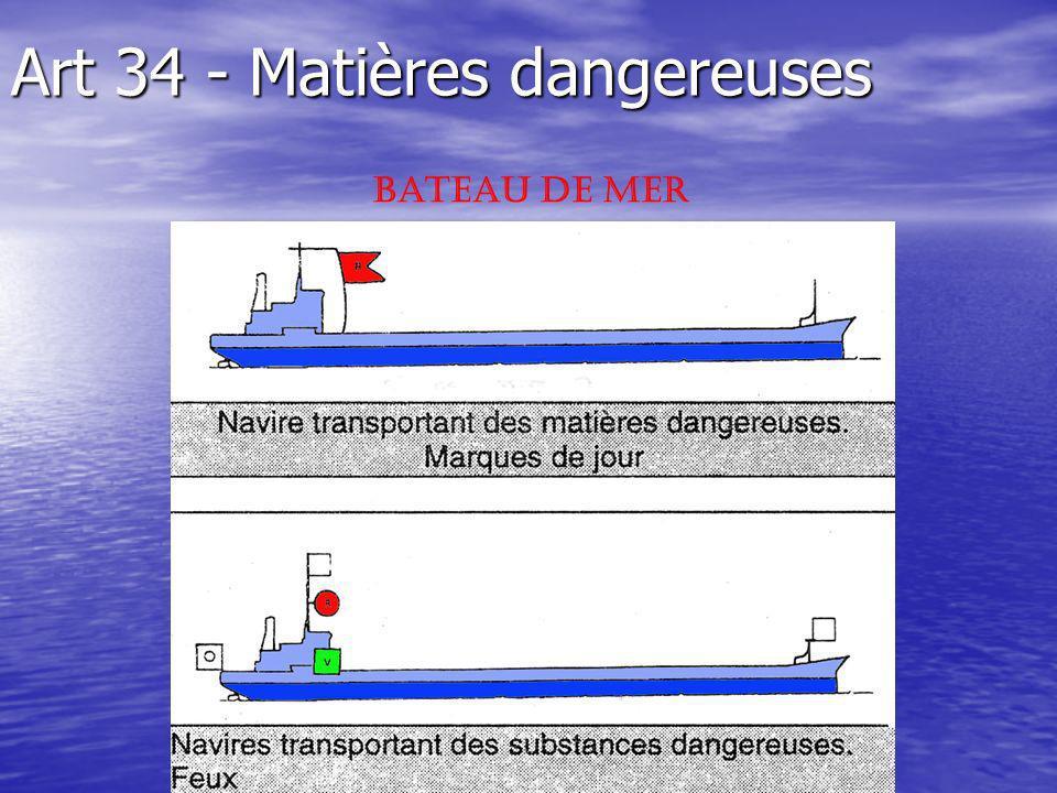 Art 34 - Matières dangereuses Bateau de Mer