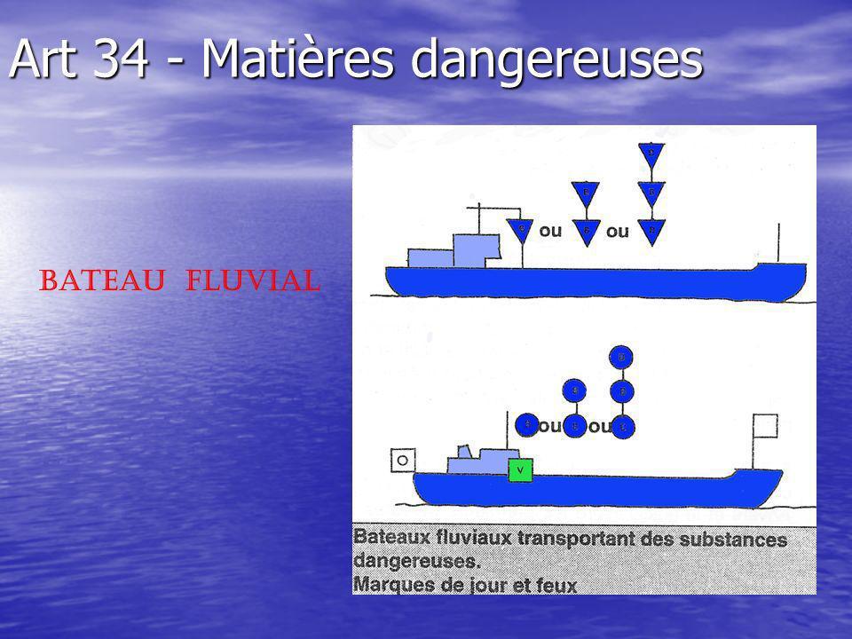 Art 34 - Matières dangereuses Bateau Fluvial